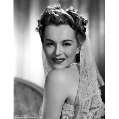 Eva Gabor On A Lace Bridal Gown Photo Print