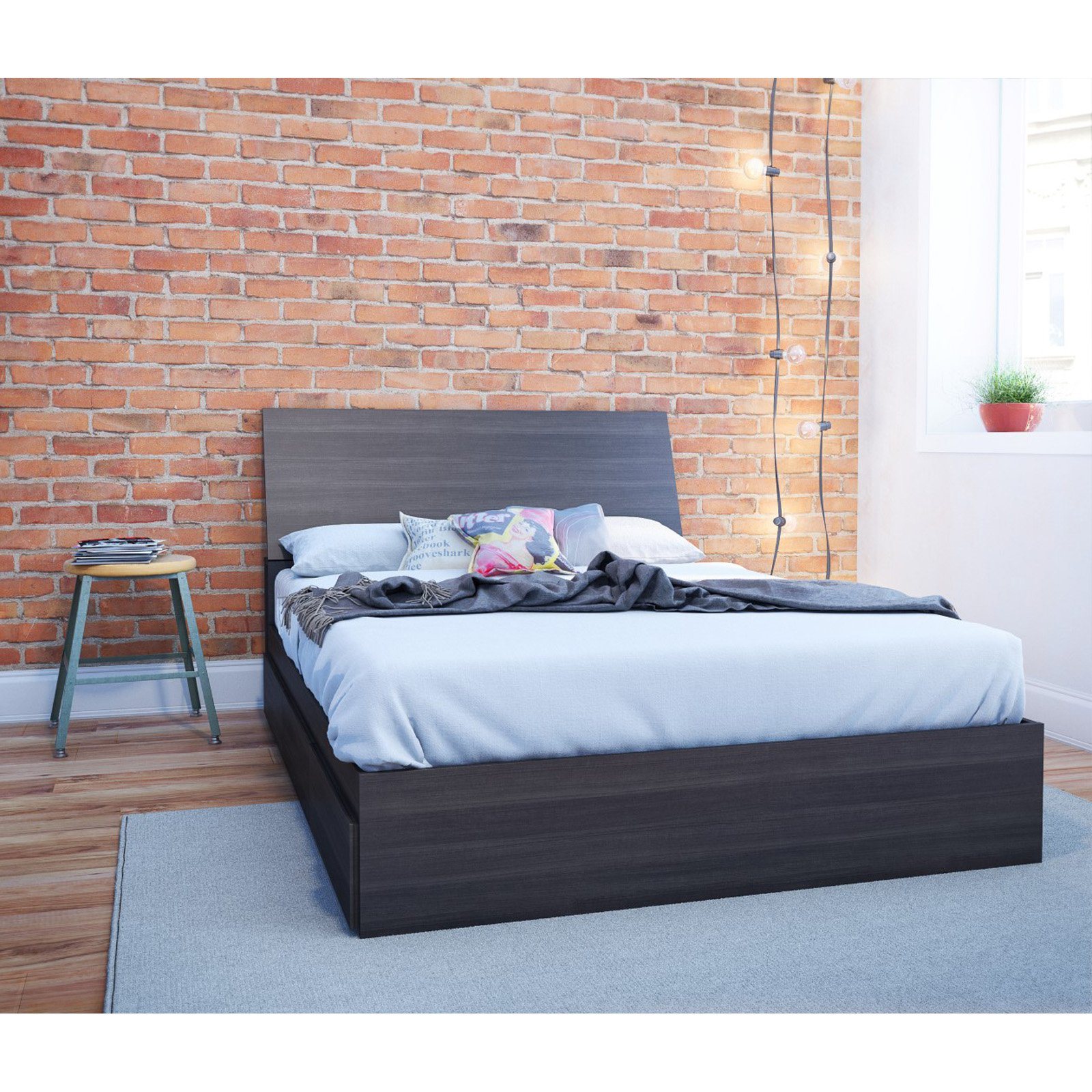 Nexera Tribeca Storage Platform Bed