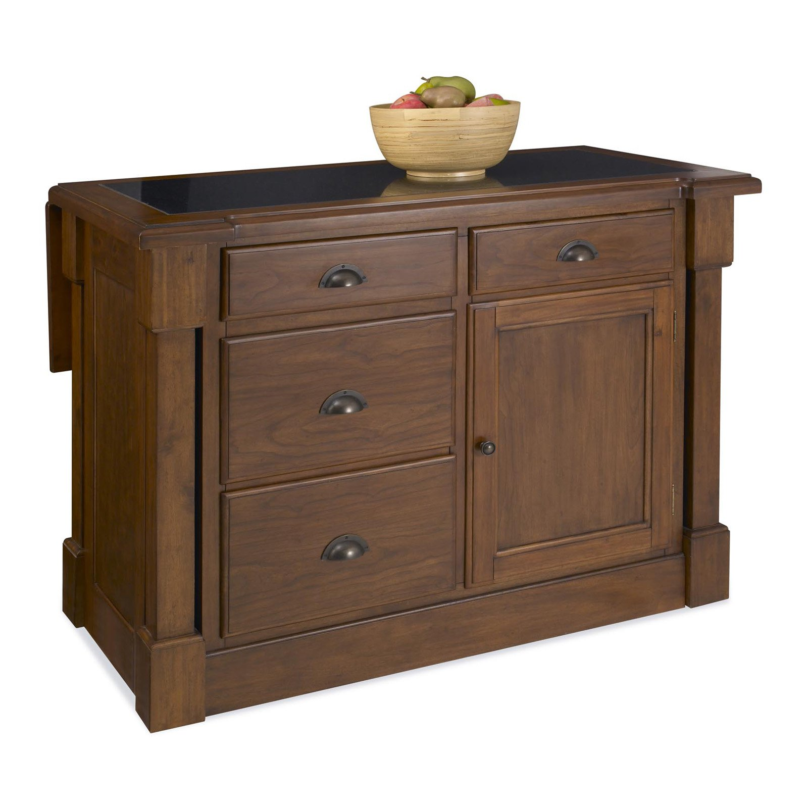 home styles aspen kitchen island with hidden drop leaf support and