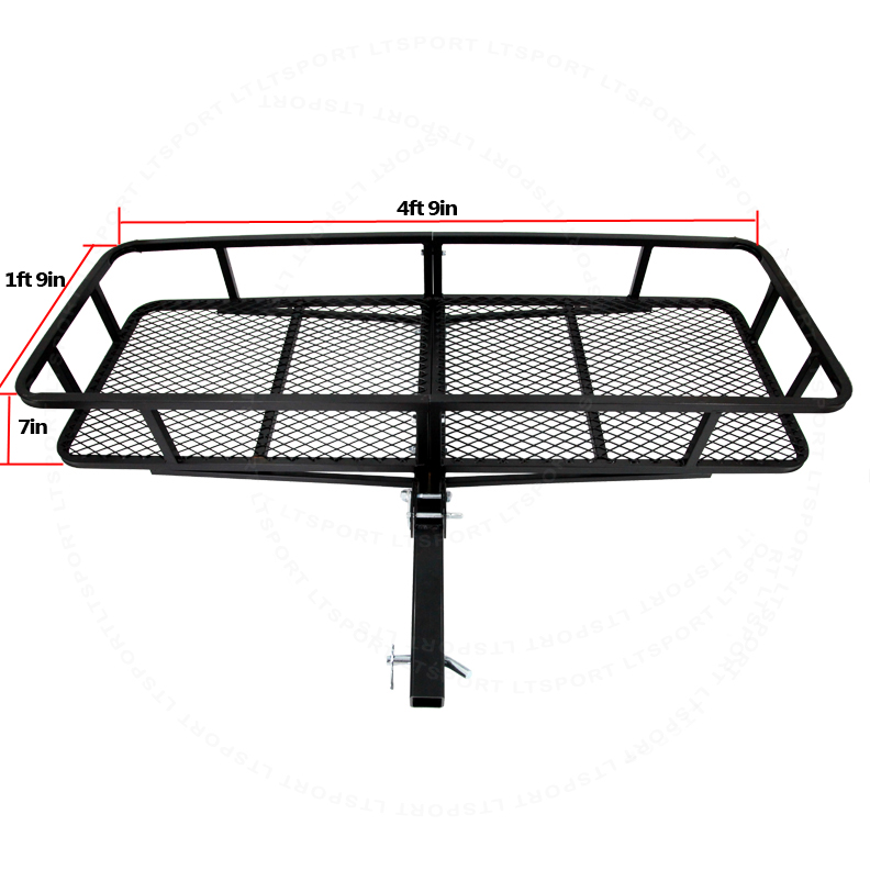 Fit Land Rover Trailer Hitch Storage Rack Cargo Luggage Carrier 57x21 Basket