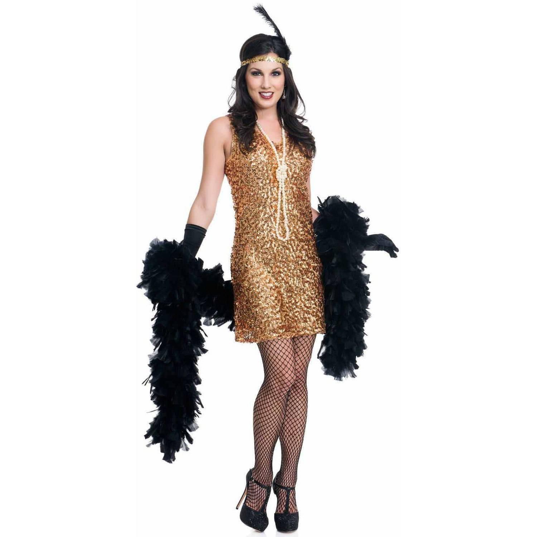 Dazzling Darling Gold Flapper Women's Adult Halloween Costume
