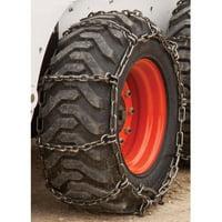 Heavy Duty 12-16.5 Square Link Skidsteer Tire Chains, 2 Link Spacing
