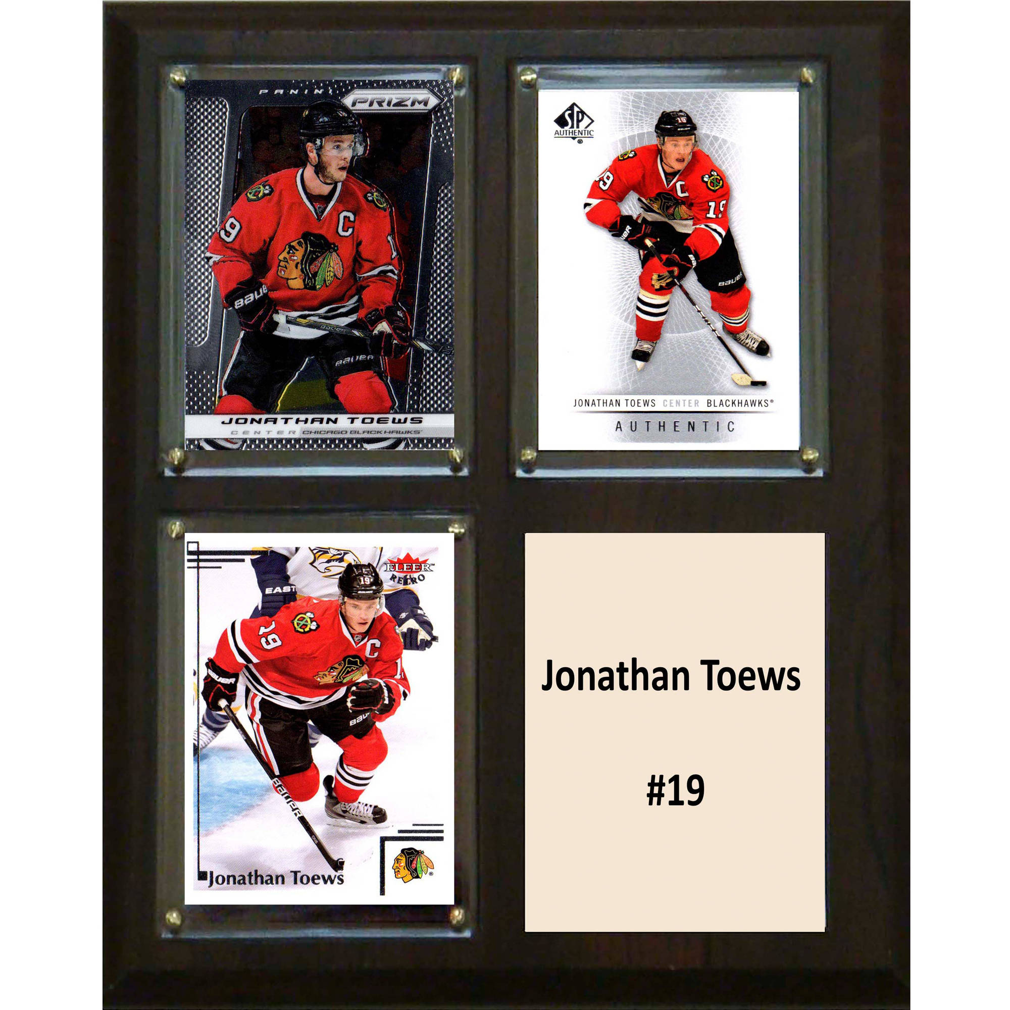 C&I Collectables NHL 8x10 Jonathan Toews Chicago Blackhawks 3-Card Plaque