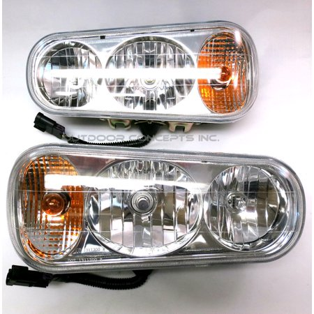 (2) Universal HALOGEN HEADLAMP LIGHT KIT for Buyers SAM 1311100 for Meyer Fisher by The ROP Shop thumbnail