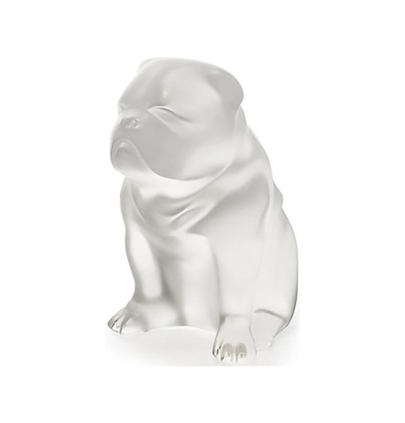 Lalique Sculpture Clear Figurine Dog BULLDOG #10520200