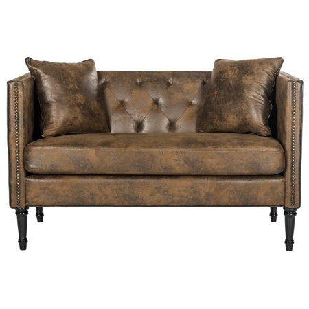Safavieh Sarah Tufted Settee with Pillows, Multiple Colors