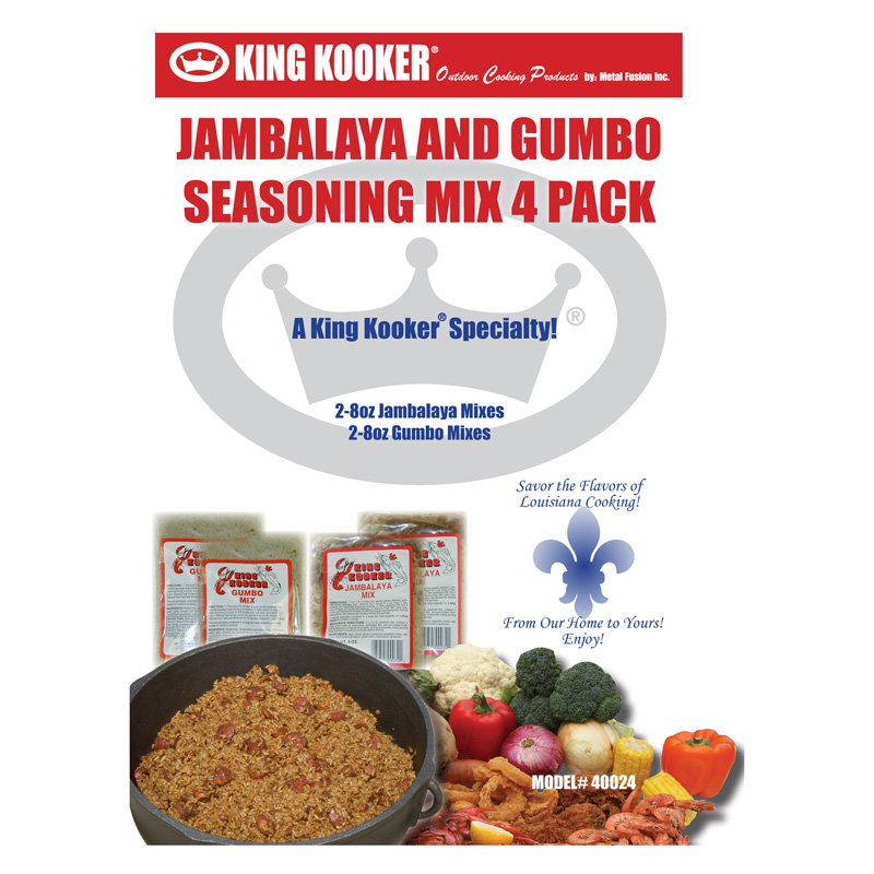 King Kooker Gumbo & Jambalaya Seasoning Mix Pack