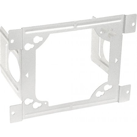 Zinc Plated Wood - 2 Pcs, 6 Square Box Stud Mounting Bracket, 2-1/2 Or 3-5/8 In. Stud Wall Depth, Zinc Plated Steel Used to Support Electrical Boxes Mounted to Metal Or Wood Studs
