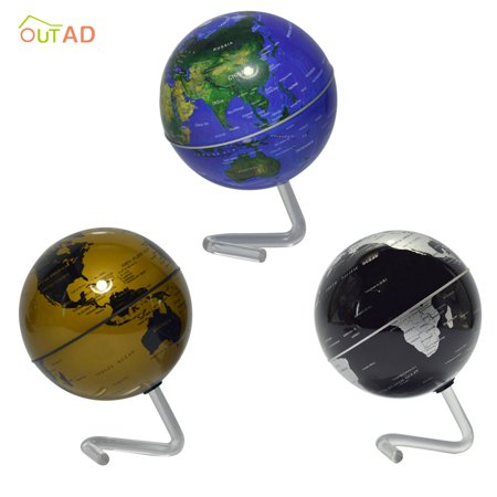 """4"""" Self-Rotating Geography World Globe World Map Ornaments Home Office Decor blue - image 2 of 8"""