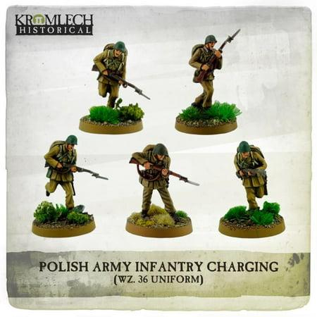 Infantry Squad - Wz. 36 Uniforms Charging w/Rifles New