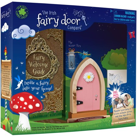 License 2 play irish fairy door pink arch for Pink fairy door