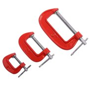 Wideskall® 3 Pieces Heavy Duty Malleable C Clamp Set