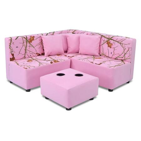 Kangaroo Kids Sectional Set - Mossy Oak Nativ Living Pink - Walmart.com