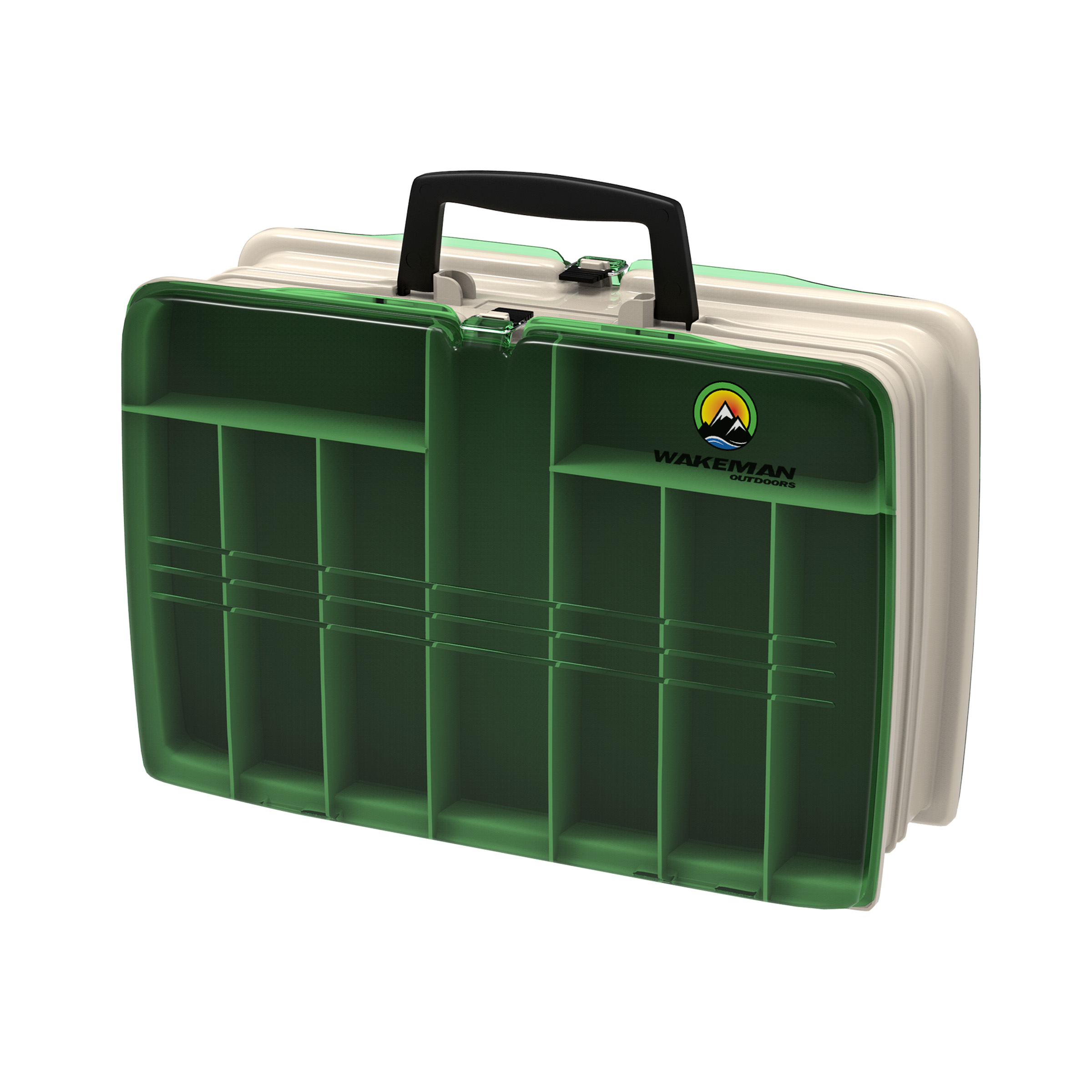"Wakeman Fishing 2-Sided Tackle Box, 12"" x 9"" x 4"" by Trademark Global LLC"