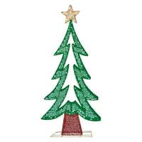 Puleo International Fabric Mesh Christmas Tree Light Display