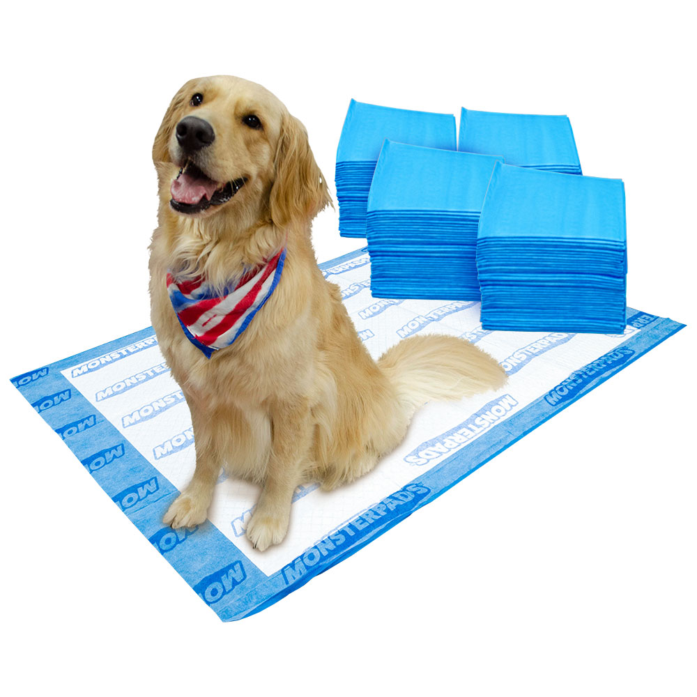 OUT! MonsterPads 7-Layer Dog Training Pads, 36x48 Inch,  40 Count, 4 Pack