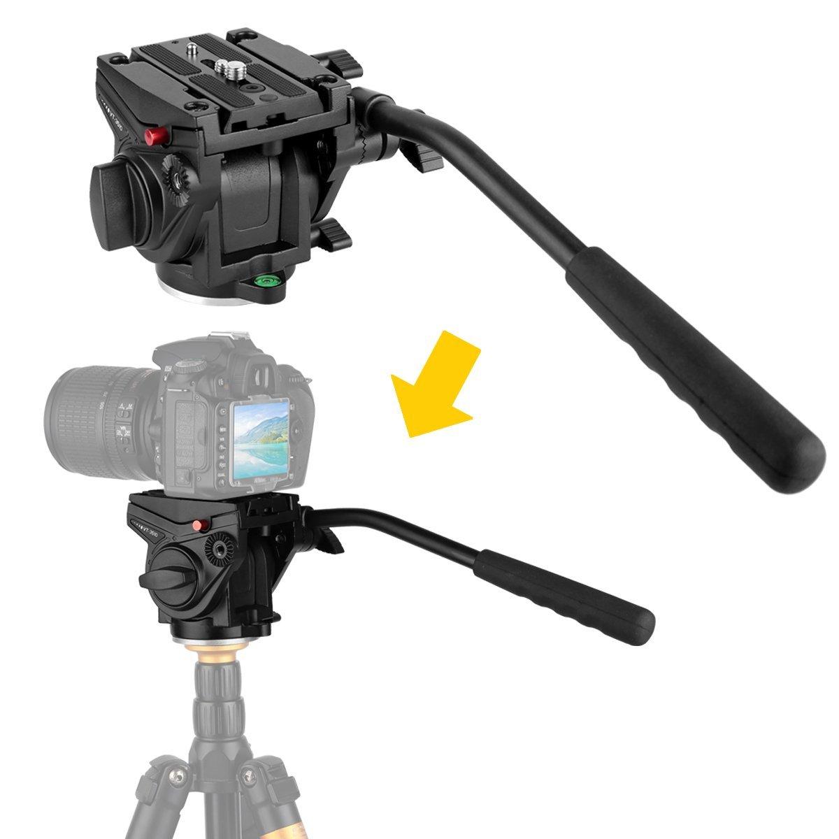 Kamisafe VT-3510 Heavy Duty Video Camera Tripod Action Fl...