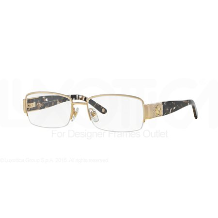 VERSACE Eyeglasses VE1175B 1002 Gold (Eyeglasses Stores Atlanta)
