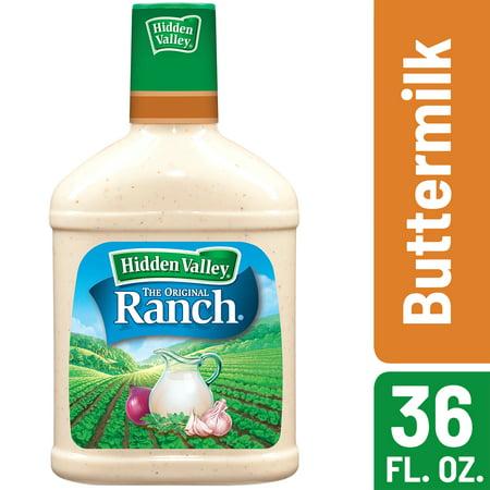 Hidden Valley Buttermilk Ranch Salad Dressing & Topping, Gluten Free - 36 oz Bottle