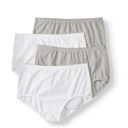4a5fca19639 Best Fitting Panty - Best Fitting Panty Ladies Cotton Stretch Brief Panty,  4 pack - Walmart.com