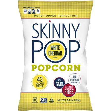 Skinny Pop Ultra Lite White Cheddar Flavor Popcorn, 4.4 oz, (Pack of 12)
