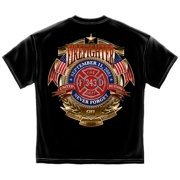 Cotton Firefighter Badge Of Honor Graphic T-Shirt