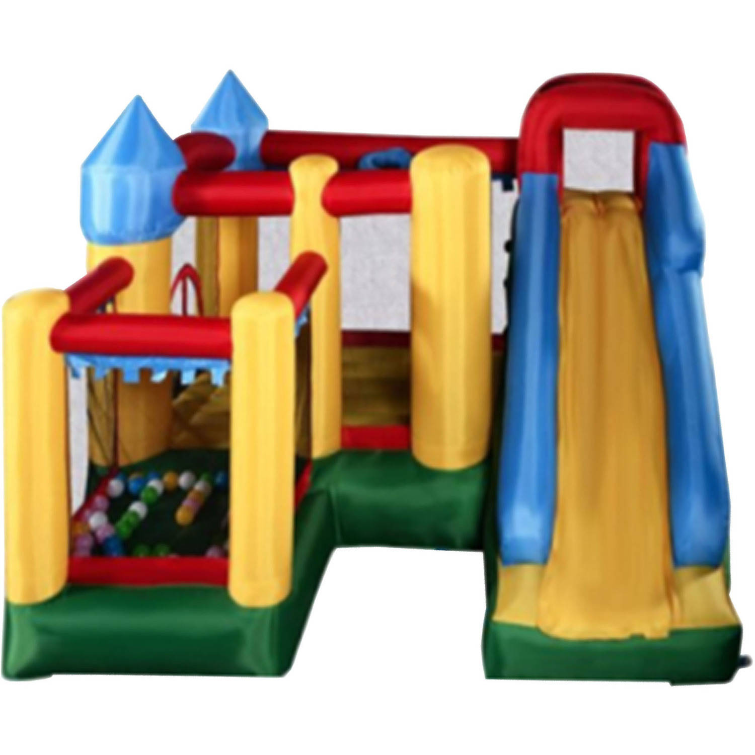 ALEKO BHPOOL Commercial Inflatable Fun Slide Bounce House with Ball Pit and Blower by ALEKO