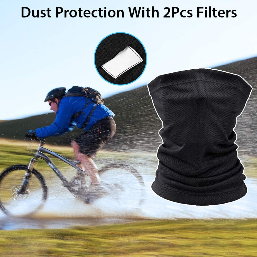 Po-Kemon Neck Gaiter Face Scarf Mask-Dust Men /& Women Sun Protection Lightweight Windproof Breathable Fishing Hiking Running Cycling Black