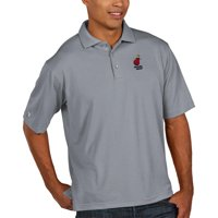 Miami Heat Antigua Pique Xtra Lite Big & Tall Polo - Heather Gray