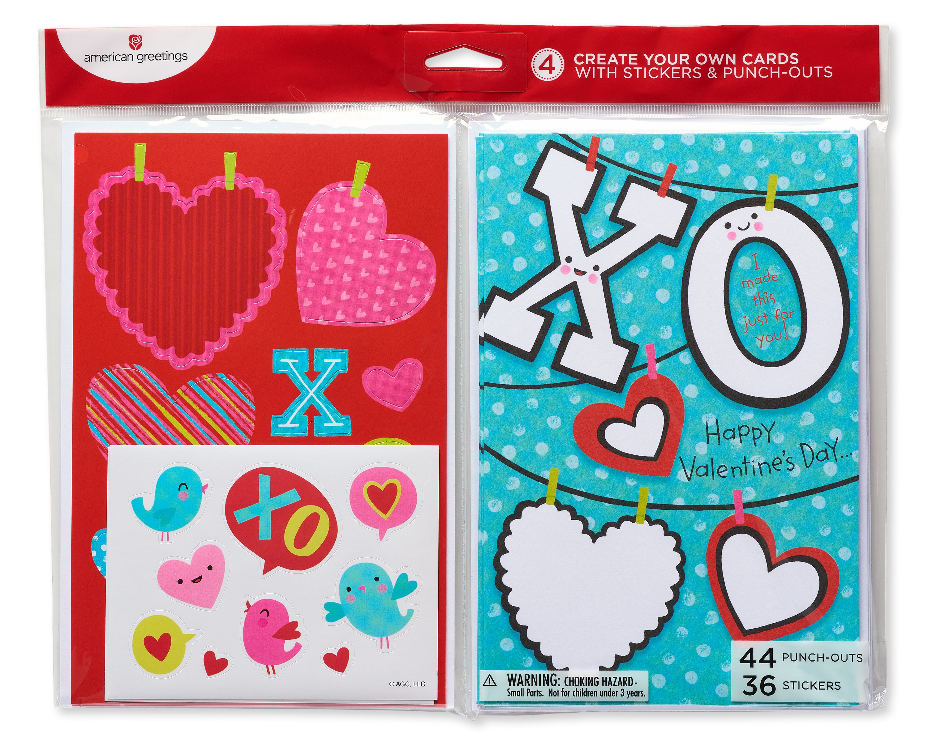 American Greetings Xo Valentines Day Card 4ct Walmart