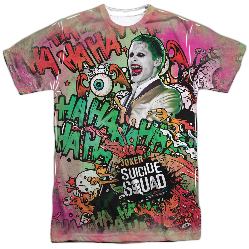 Suicide Squad Joker Psychedelic Cartoon (FB Print) Mens Sublimation Shirt
