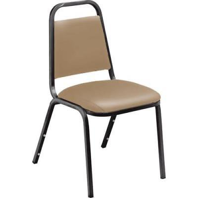 Black Vinyl Seating (Stack Chair With Beige Vinyl Seat And Black Frame)