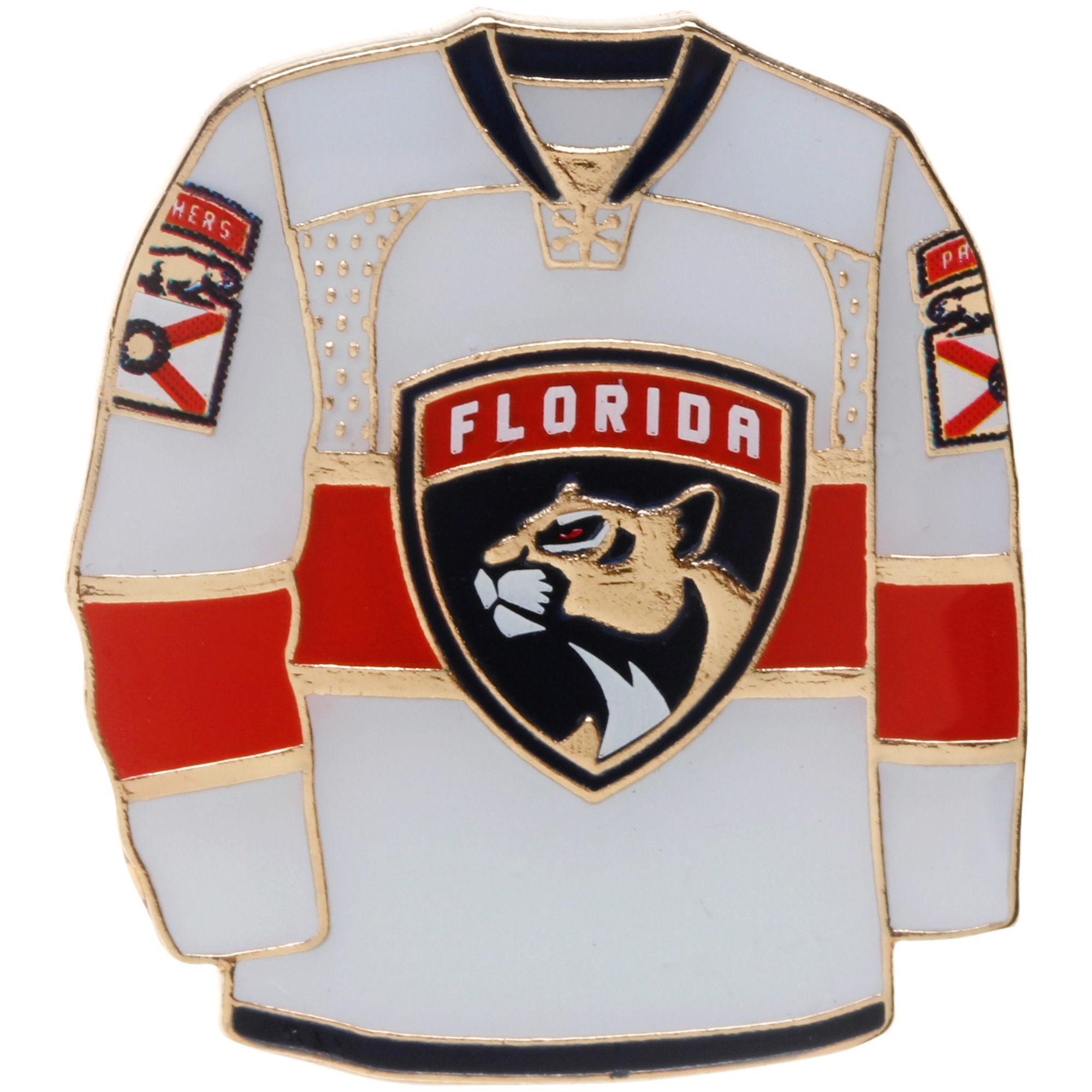 "Florida Panthers 1"" x 1"" Jersey Pin - White - No Size"
