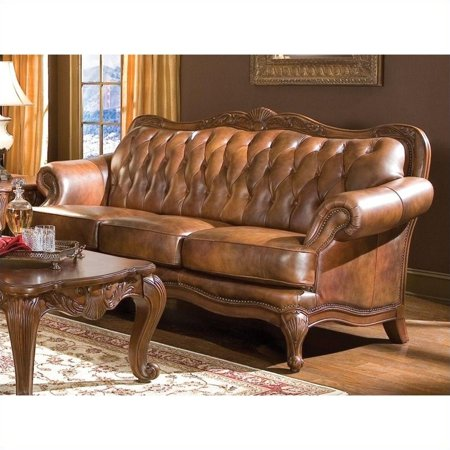 Admirable Kingfisher Lane Classic Brown Leather Sofa Beutiful Home Inspiration Truamahrainfo