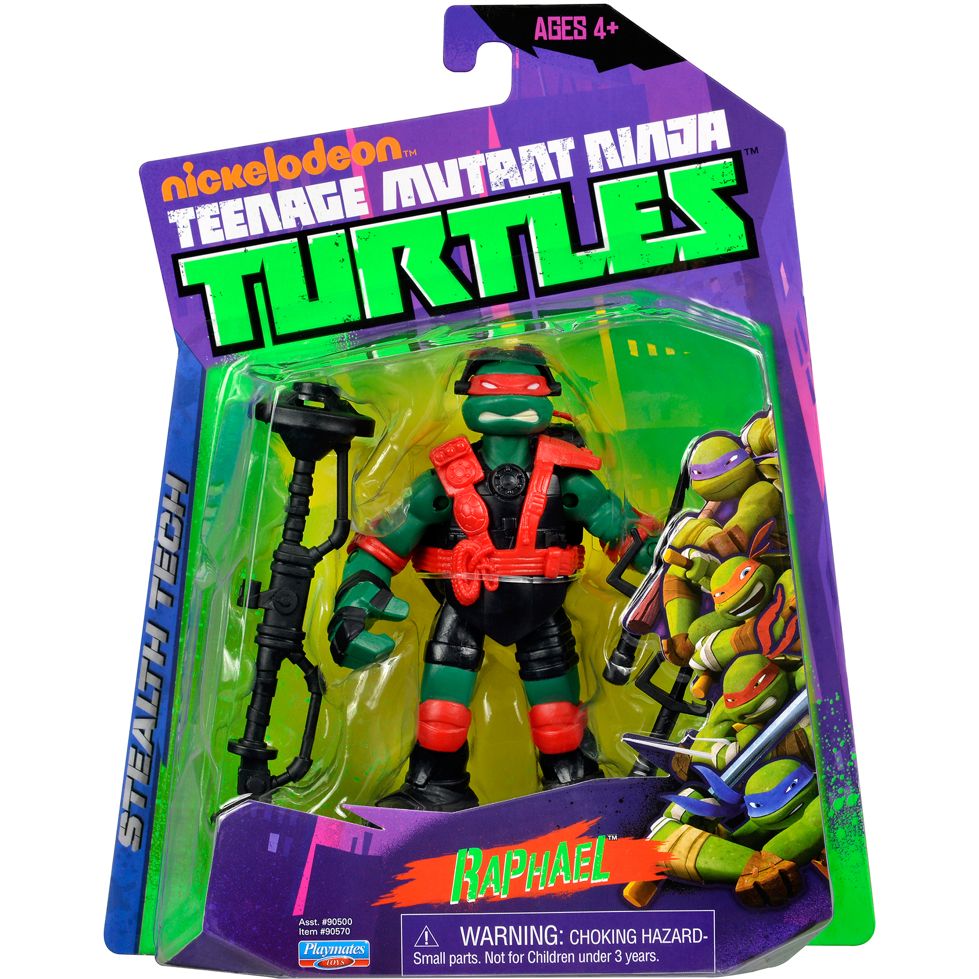 Nickelodeon Teenage Mutant Ninja Turtles TMNT Stealth Bike Raphael Action Figure