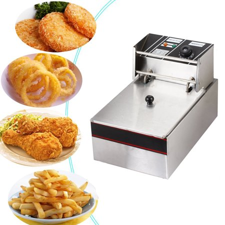 Deep Rectangle Tabletops - Zimtown Electric Deep Fryer Tank 2500W 6L Liter French Fry Fryer Tabletop Fryer +Basket Scoop