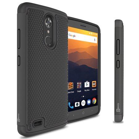 (CoverON ZTE Max XL Case, HexaGuard Series Hard Phone Cover)