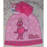 Beanie Cap - Yo Gabba Gabba - Foofa Medley Pink Anime Hat Licensed etyg6018