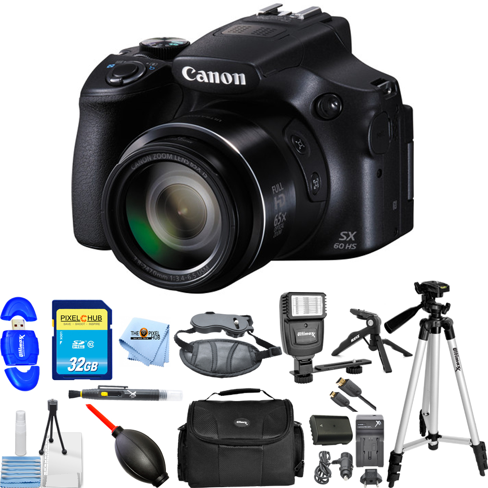 UNASSIGNED Canon PowerShot SX60 HS Digital Camera (Black)...