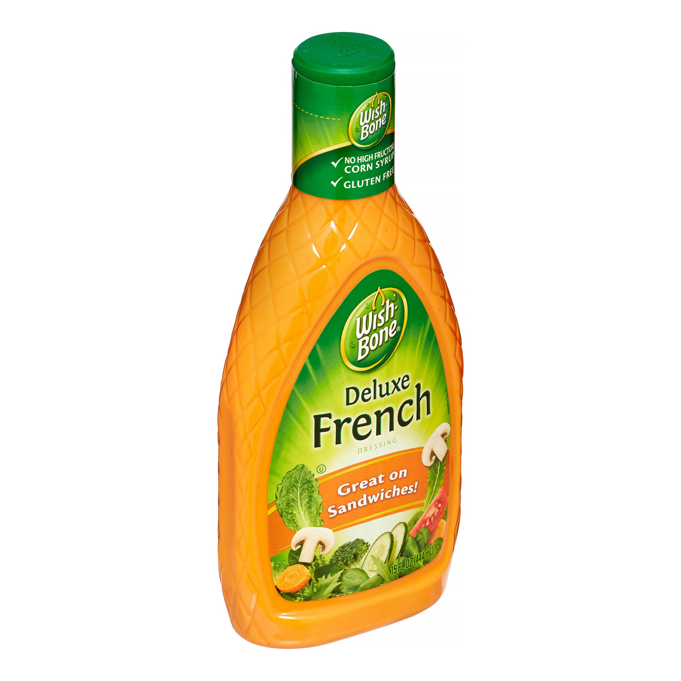 (3 Pack) Wish-Bone Salad Dressing, Deluxe French, 15 Fl Oz
