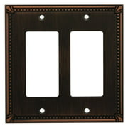 Cosmas 44098 Oil Rubbed Bronze Double GFI / Decora Wall Plate