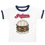 Cleveland Indians Tiny Turnip Youth Ringer Burger T-Shirt - White/Navy