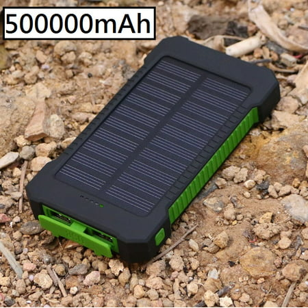 500000mAh Dual USB Portable Solar Battery Charger Solar Power Bank For Phone USA ()