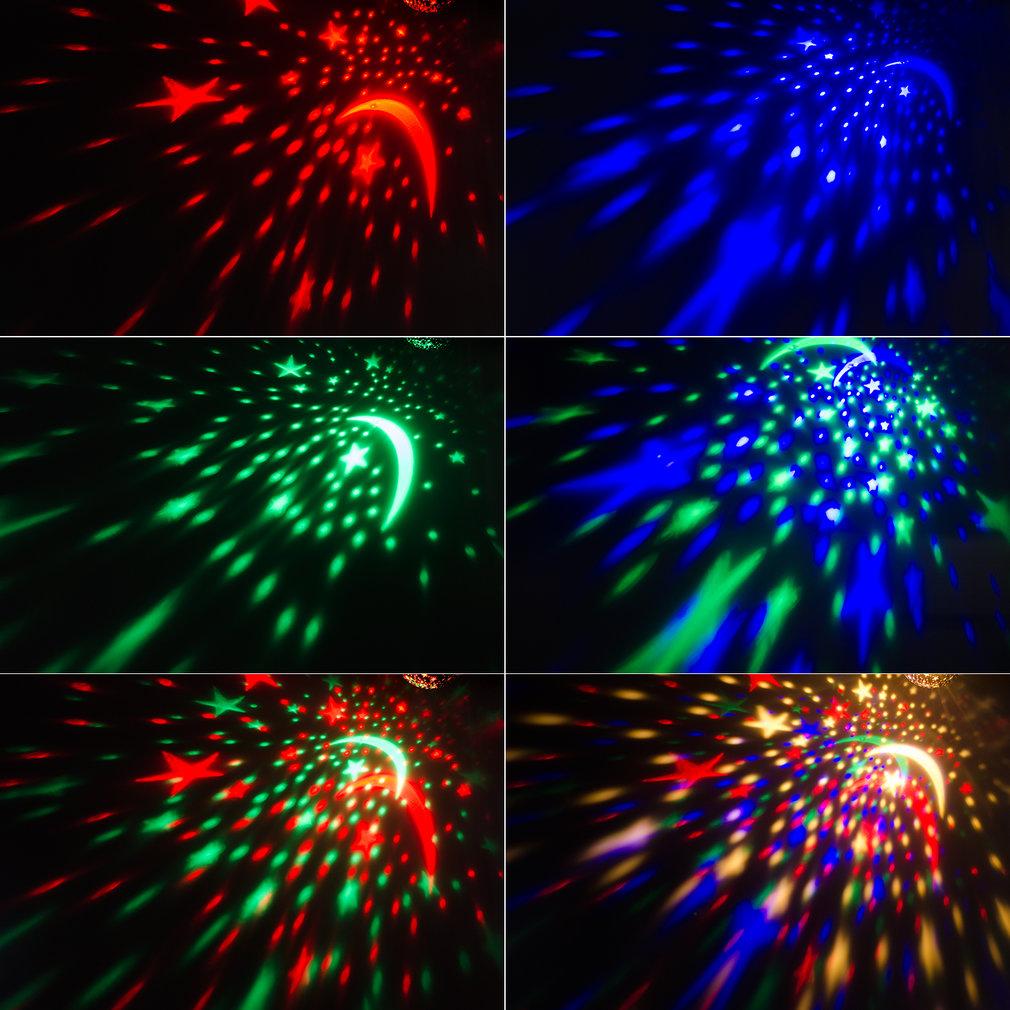 4 LED Bead 360 Degree Romantic Room Rotating Cosmos Sun & Star Starry Moon Sky Night Lighting Lamp Projector Kid Bedroom by