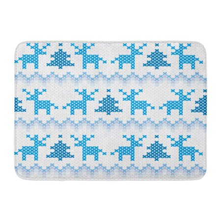 GODPOK Beautiful Christmas and Winter with Detailed Pattern Made from Stitches Designs Fills Events Menus Prints Rug Doormat Bath Mat 23.6x15.7 - Winter Themed Events