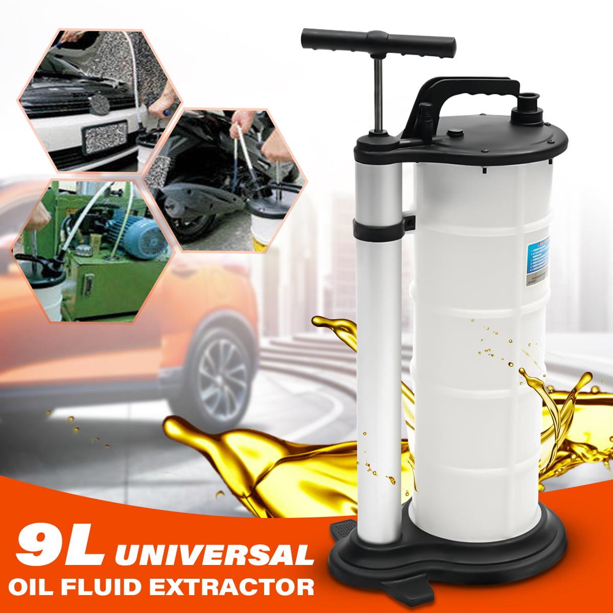 9L Vacuum Oil Fluid Suction Extractor Changer Manual Car Fuel Transfer Pump