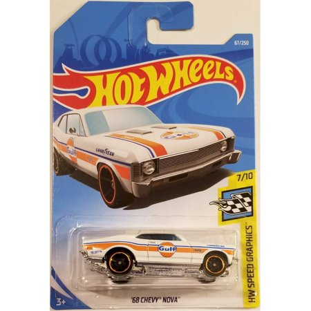 Hot Wheels 2019 Hw Speed Graphics: '68 Chevy Nova [White - Gulf] International (Best Selling Graphics Card 2019)