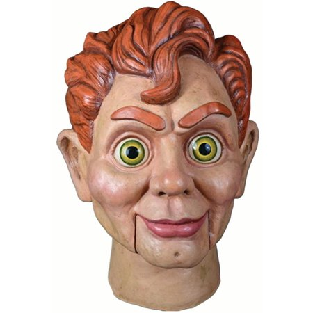 Goosebumps Slappy The Dummy Full Head Mask, Beige Red, One-Size](Dummy Mask)