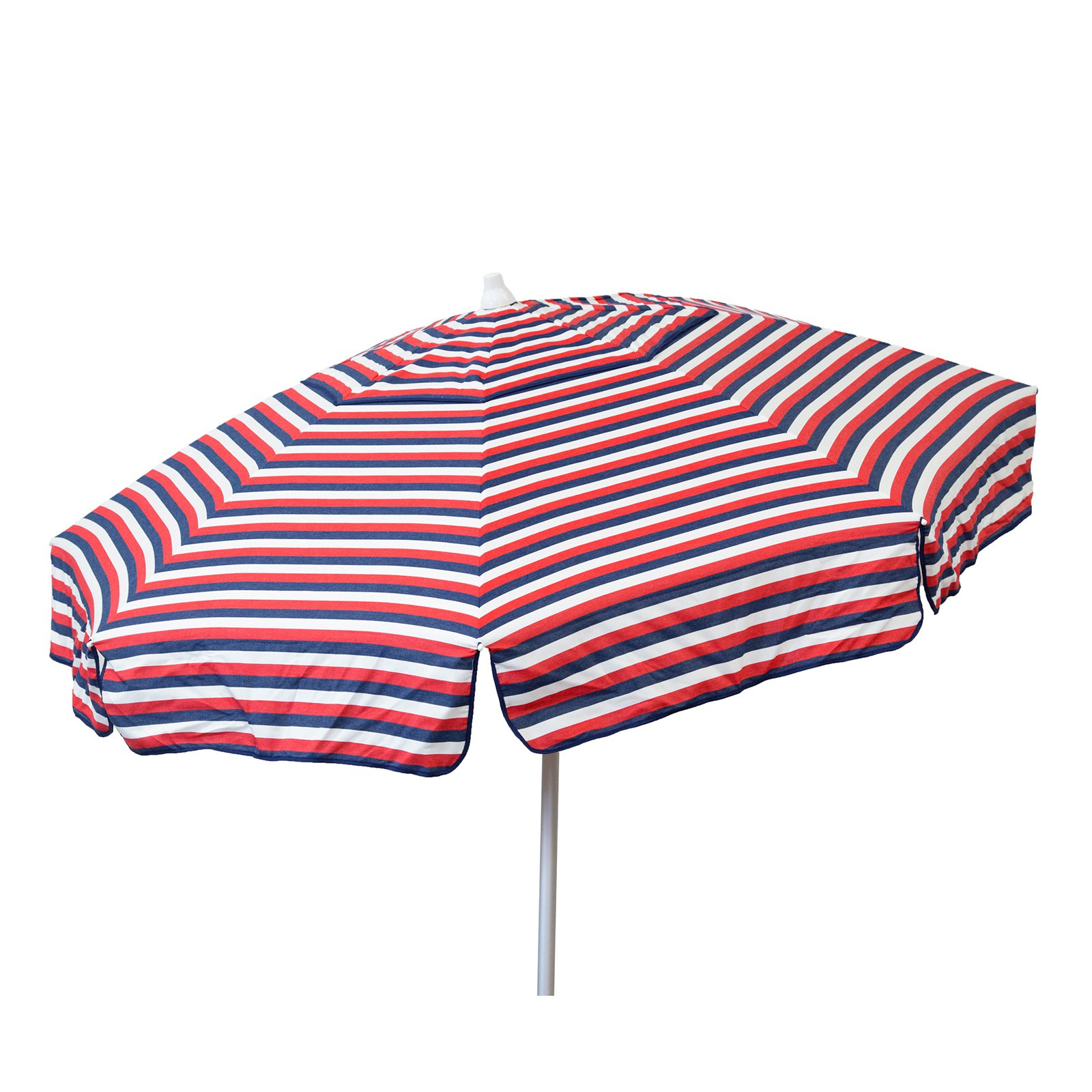 DestinationGear Euro 6' Umbrella Tri Color Stripe Red/White/Blue Beach Pole