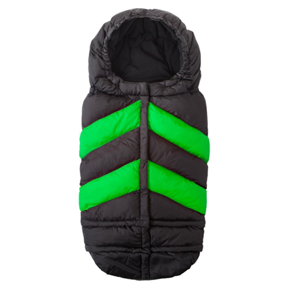 7 A.M. Blanket 212 Chevron, Black/Neon Green